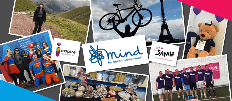 Blue Arrow staff raising money for Mind UK and their affiliates Scottish Association of Mental Health and Inspire (Ireland & Northern Ireland).