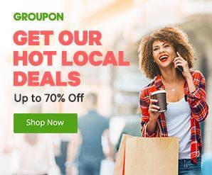 Groupon Local deals - up to 70% off
