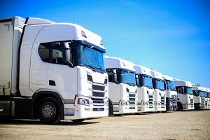 An image of a row of Trucks