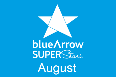 Blue Arrow Superstars August