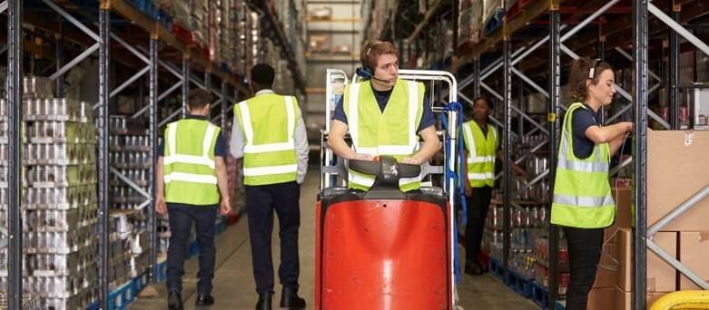 Warehouse community blog - Warehouse Forklift Truck Driver, driving around warehouse
