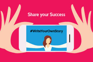 Blue Arrow Write Your Own Story - Click to find out how you can share your temping success story with us