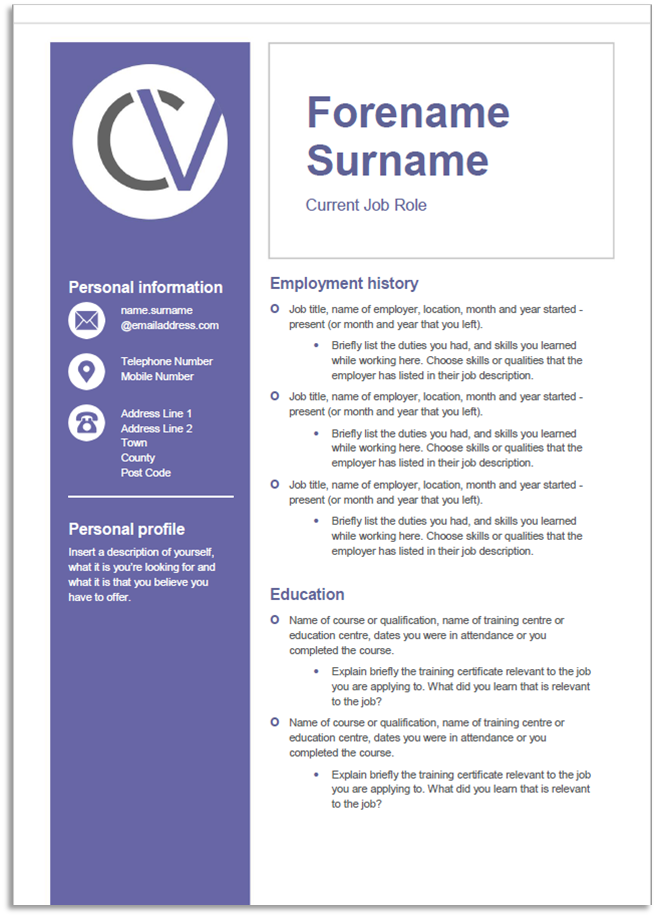 CV Templates | Career Advice | Blue Arrow