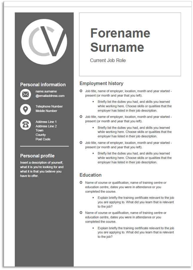 Top Cv Templates from www.bluearrow.co.uk