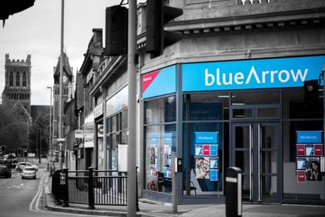 Find your local branch. A Blue Arrow Branch Front