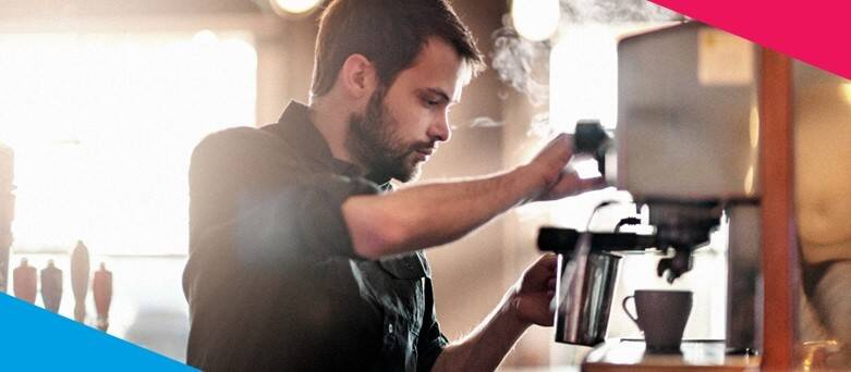 How to become a Barista  - Male Barista making Coffee