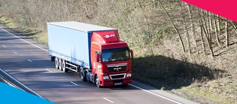 How to become a Class 1 HGV Driver - A truck on an open motorway