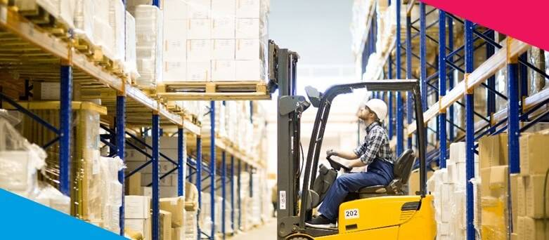 How to become a Counterbalance Forklift Truck Driver. A Warehouse Operative Driving a Counterbalance Forklift Truck , taking down pallets