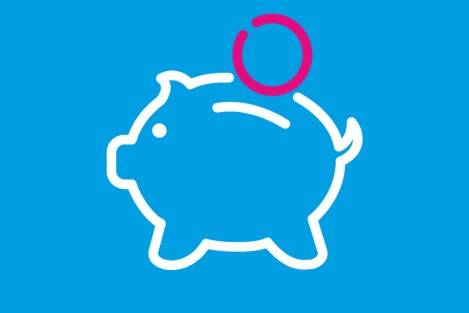 icon representing a piggy bank