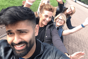 Blue Arrow Reward and Recognition: Staff Selfie at Alton Towers