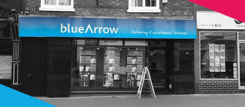 Blue Arrow Leicester Branch Front, 20 Belvoir Street, Leicester