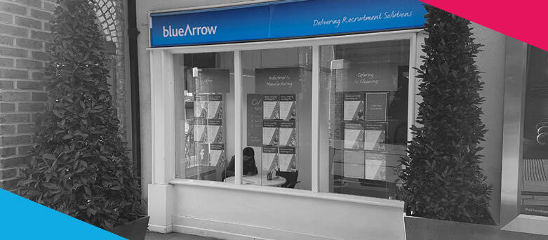 Maidstone Blue Arrow Outdoor Sign - 64 Earl Street