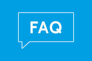 "Apprenticeships by Blue Arrow Frequently Asked Question - Blue background with ""FAQ"" written on top"