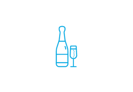 Catering and Hospitality Types of Supply: Pubs, Bars and Restaurants, Wine and Wine glass icon