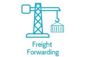 Logistics and Transport Types of Supply, Freight Forwarding, Crane Icon