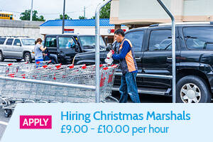 'Apply' Hiring Christmas Marshals, £9.00 - £10.00 per hour - Static Banner