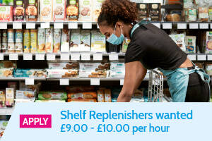 'Apply' Shelf Replenishers wanted, £9.00 - £10.00 per hour - Static Banner