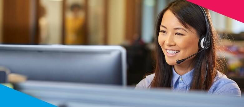Lloyds Banking Group Why Work with Lloyds - Female customer service advisor on the phone