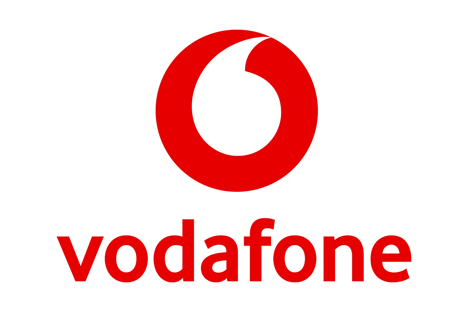 Vodafone Logo Fully Colour - Working with Blue Arrow