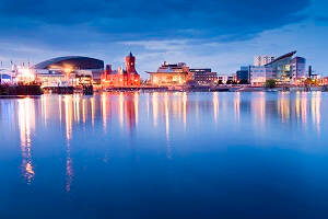 Chef Jobs Cardiff, Cardiff Skyline at sunset