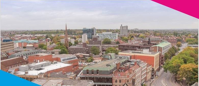 Chef Jobs Coventry, ariel view of Coventry City centre