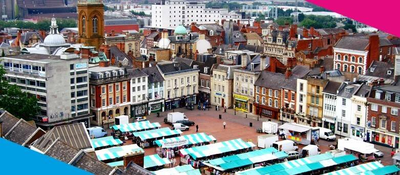 Chef Jobs Northampton  Ariel view of Northampton Market