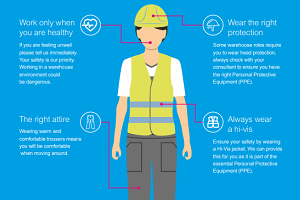 Dress code for a warehouse worker
