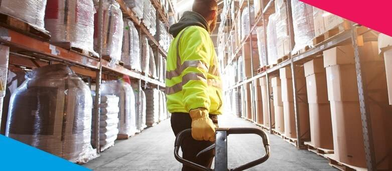 Warehouse Career Prospects  - Male Warehouse Operative, pulling a pallet