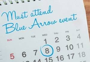 Blue Arrow Events - Calendar Image, Click to view all events