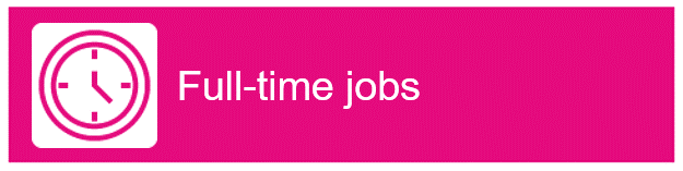"Clock icon with ""Full-time jobs"" as text"