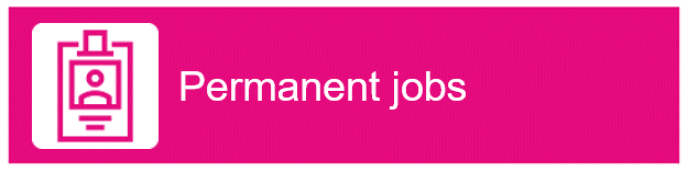 "Icon of a employee ID. Text ""Permanent jobs"""
